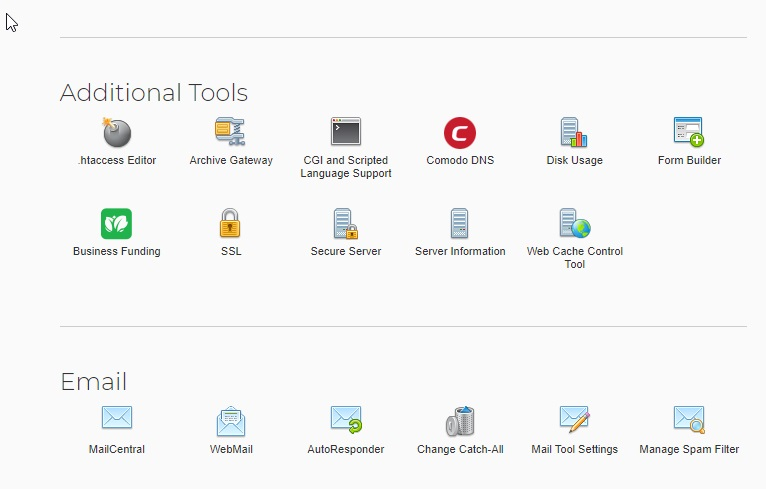 IPower shared hosting vdeck - additional tools