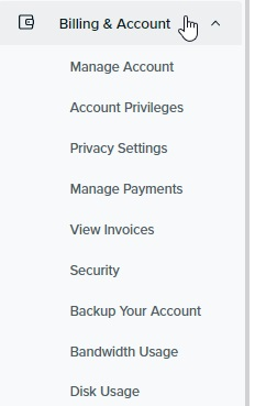 DreamHost shared hosting - Account and Billing