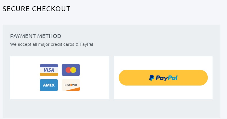 DreamHost shared hosting- credit card and paypal