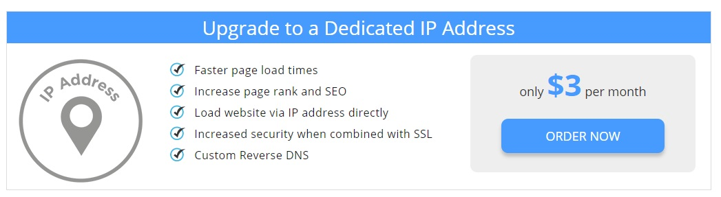 Interserver Shared Hosting - dedicated IP address
